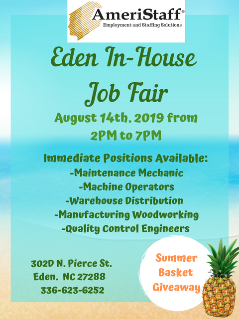 Eden, NC In-House Job Fair