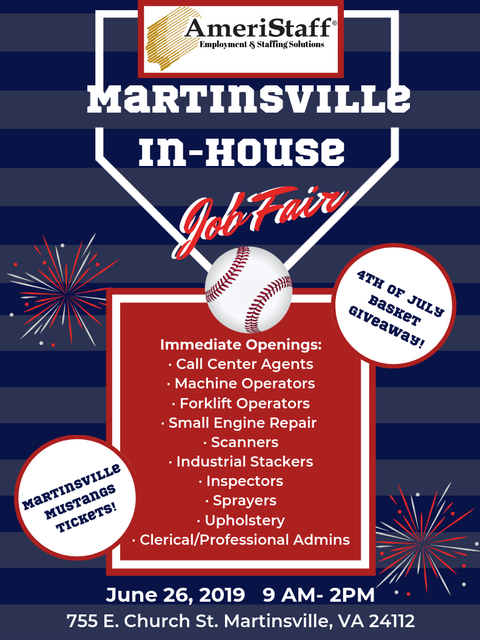 In House Job Fair Martinsville, VA