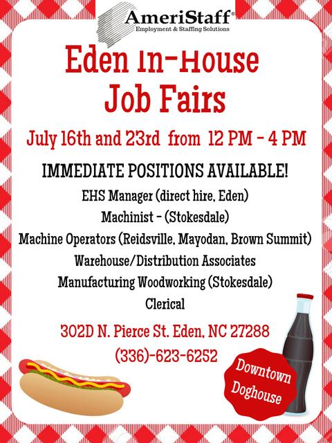In-House Job Fair in Eden, NC