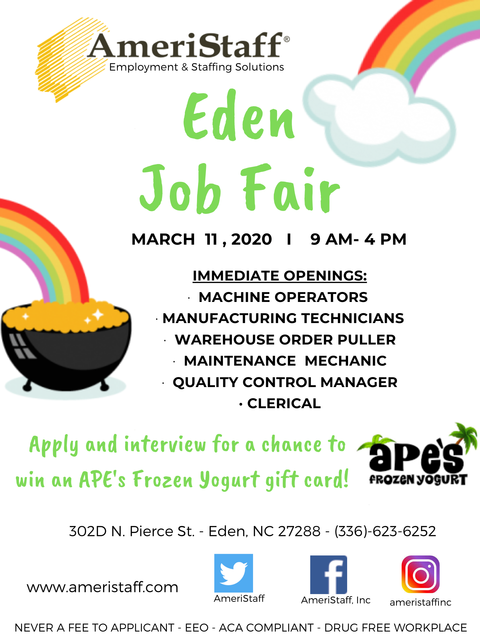Job Fair in Eden, NC