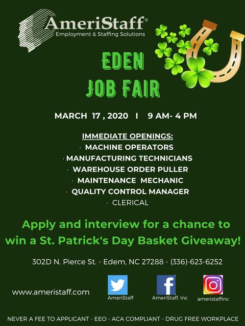 Job Fair in Eden, NC