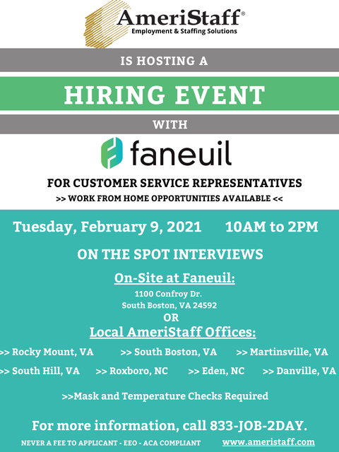 Hiring Event with Faneuil!