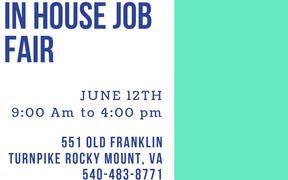 In House Job Fair Rocky Mount, VA