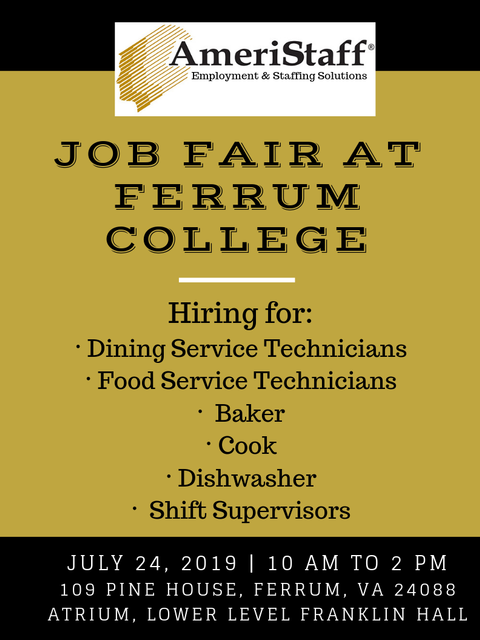 On-Site Job Fair at Ferrum College