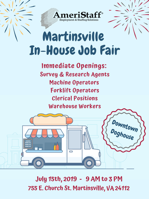 In-House Job Fair in Martinsville, VA