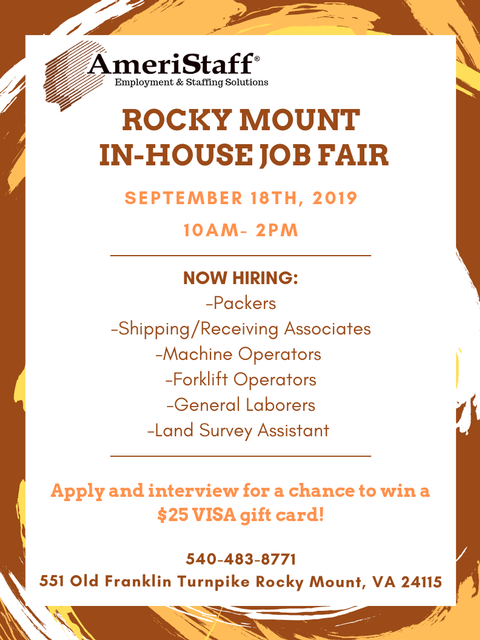 In-House Job Fair in Rocky Mount, VA