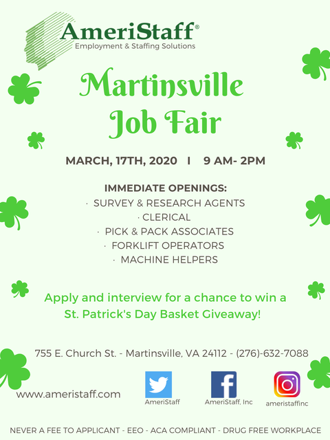 Job Fair in Martinsville, VA