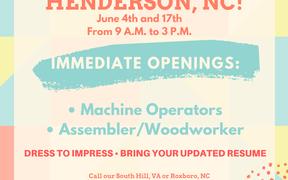 Job Fair at NCWorks Henderson, NC