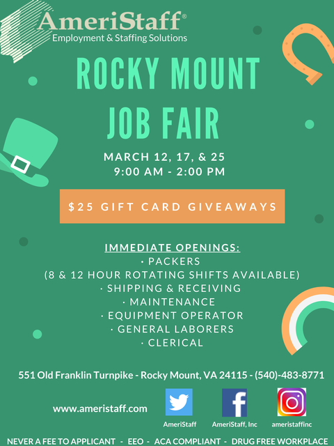 Job Fair in Rocky Mount, VA