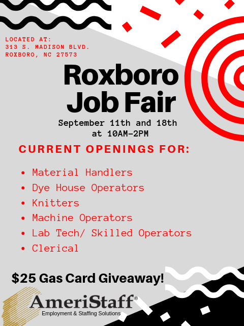 Job Fair in Roxboro, North Carolina