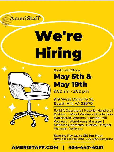 South Hill Hiring Event