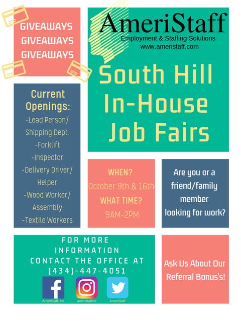 South Hill Job Fair