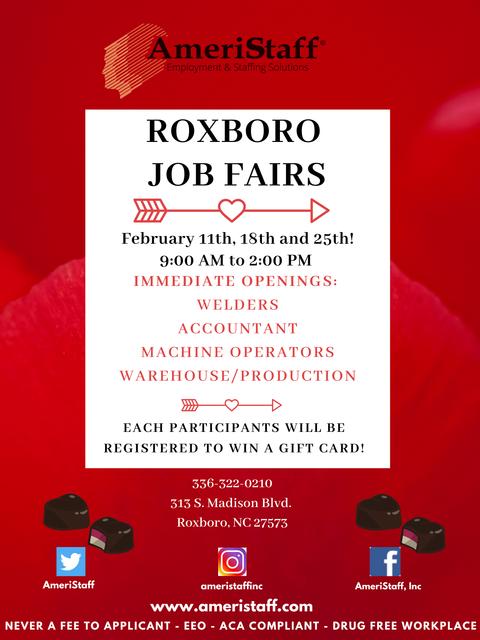 Roxboro, NC Job Fair