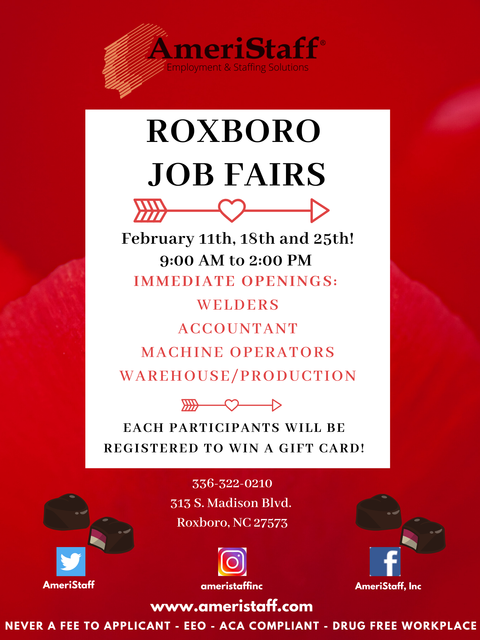 Roxboro, NC Job Fair