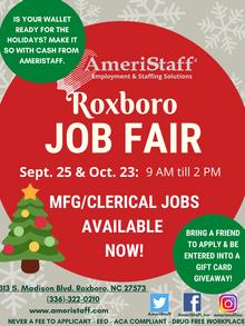 Job Fair in Roxboro, NC