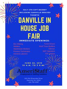 In House Job Fair in Danville, VA
