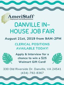 Danville, VA In-House Job Fair
