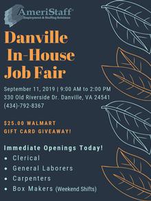 In-House Job Fair in Danville, VA