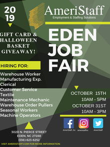 Eden, NC Job Fair