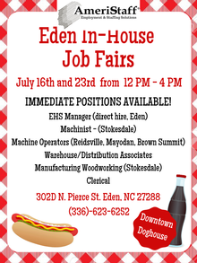 In-House Job Fair in Eden, NC