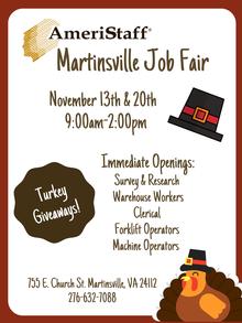 In-House Job Fair in Martinsville, VA