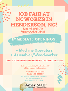 Job Fair NCWorks in Henderson, NC