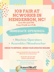 Job Fair NCWorks in Henderson, NC