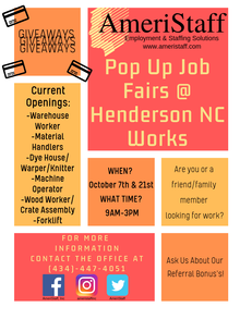 Pop Up Job Fair at Henderson NCWorks