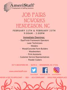 Job Fair at NCWorks in Henderson, NC