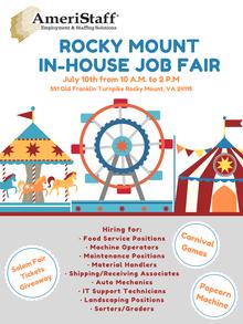 In House Job Fair in Rocky Mount