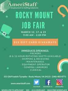 Job Fair in Rocky Mount, VA
