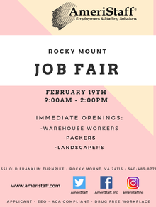 Pop-Up Job Fair in Rocky Mount, VA