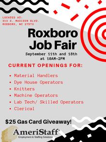 Job Fair in Roxboro, North Carolina