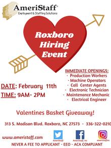 Roxboro Hiring Event