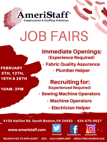 South Boston, VA Job Fair