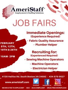 South Boston, VA Job Fairs
