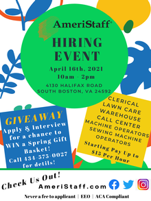 South Boston Hiring Event