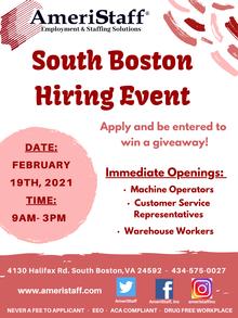 South Boston Hiring Event