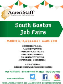 Job Fair in South Boston, VA