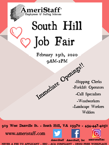 Job Fair in South Hill, VA